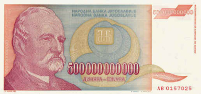 Picture of a 500,000,000,000 dinar note