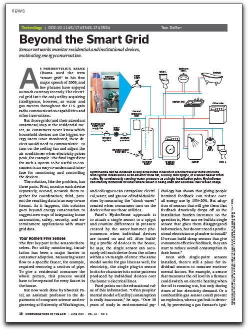 "First page of ""Beyond the Smart Grid"" article"
