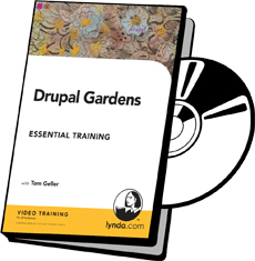 DVD cover art for Drupal Gardens Essential Training