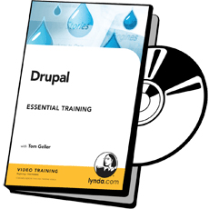 DVD cover art for Drupal 6 Essential Training