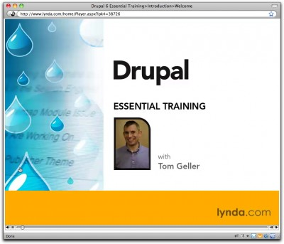 Title card for Drupal 6 Essential Training
