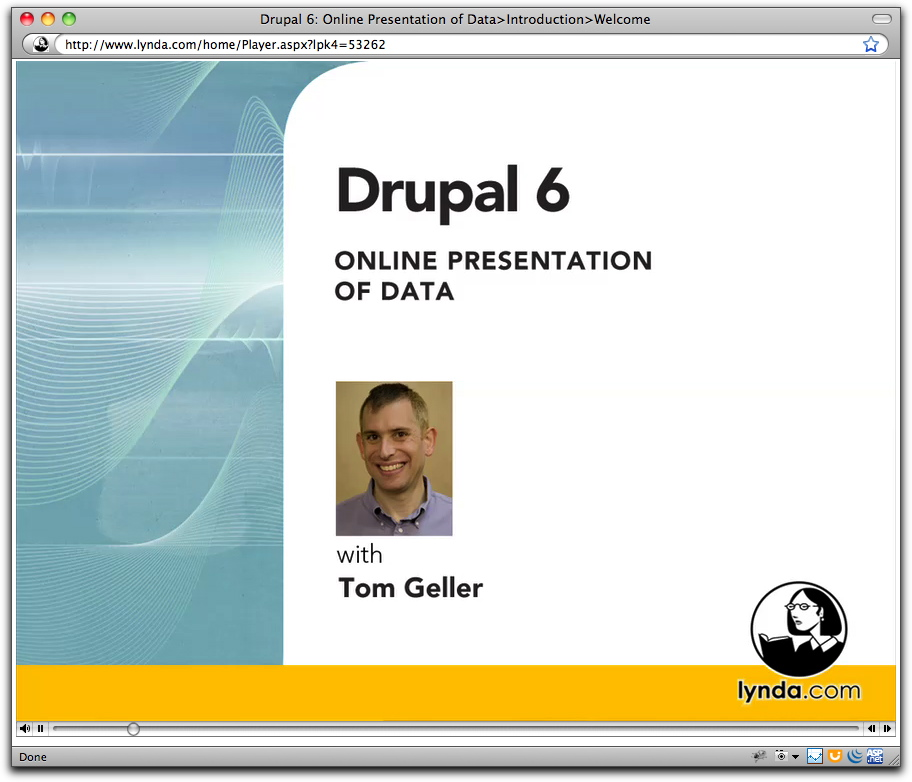 Title card for Drupal 6: Online Presentation of Data