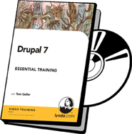 DVD cover art for Drupal 7 Essential Training