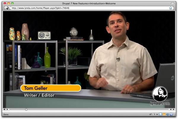 Image of Tom Geller teaching Drupal 7 New Features