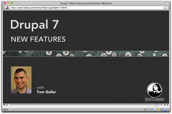 Title card for Drupal 7 New Features