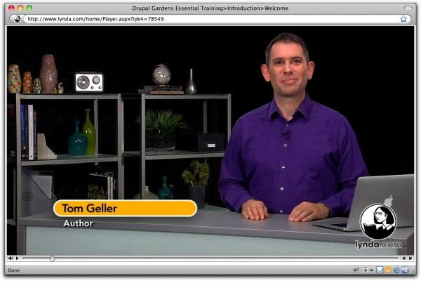 Image of Tom Geller teaching Drupal Gardens Essential Training