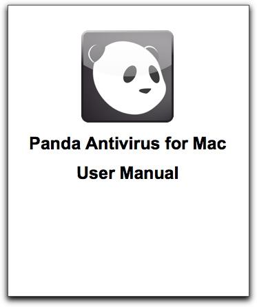 Cover of Panda Antivirus for Mac user manual