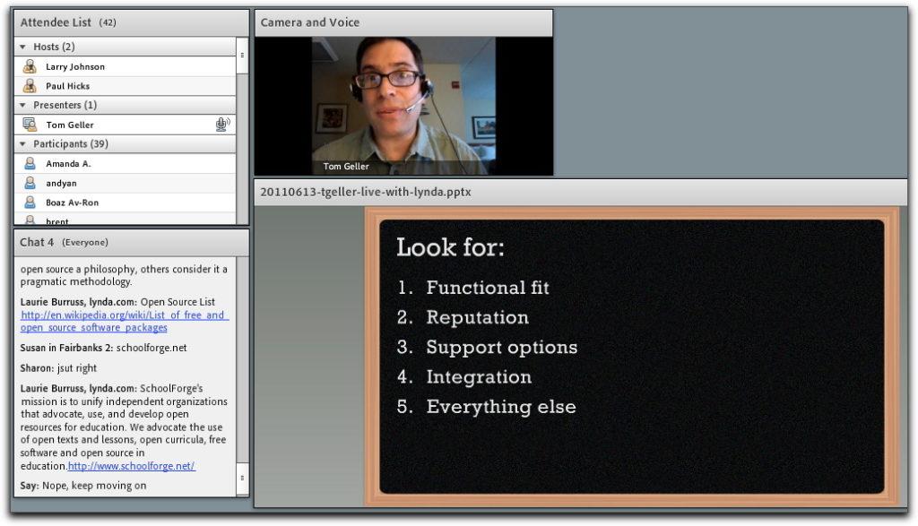 Screenshot from live presentation