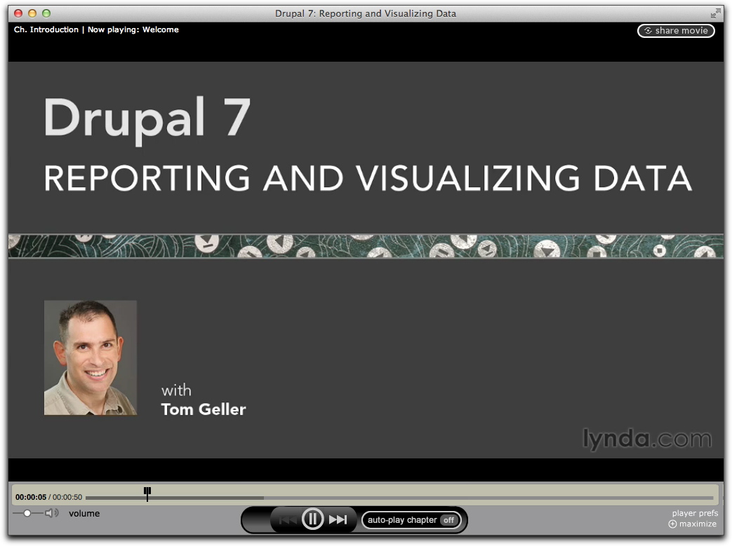 Screenshot of intro to Drupal 7: Reporting and Visualizing Data