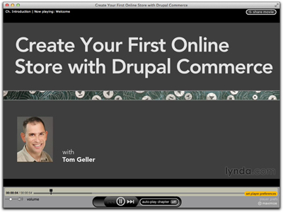 Screenshot of intro to Create Your First Online Store with Drupal Commerce