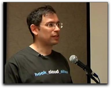 Photo of Tom Geller delivering the DrupalCamp WNY keynote