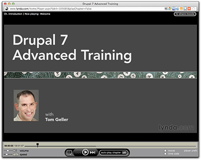 Screenshot of intro to Drupal 7 Advanced Training