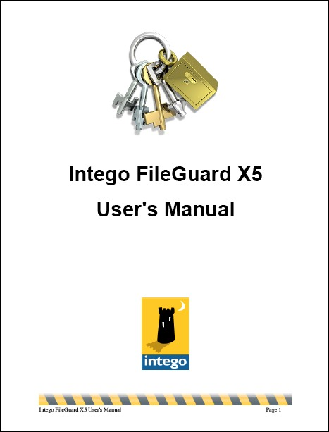 Screenshot of user manual's cover