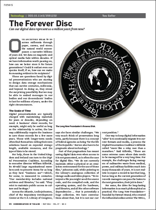 Article as it appears in CACM's digital library