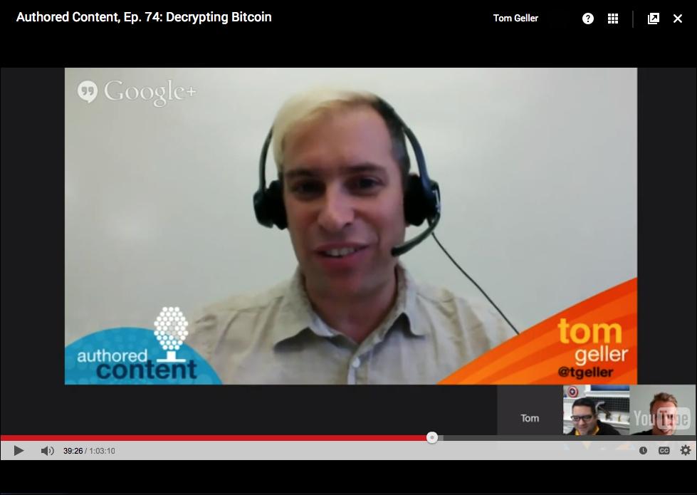 Screenshot taken during my presentation