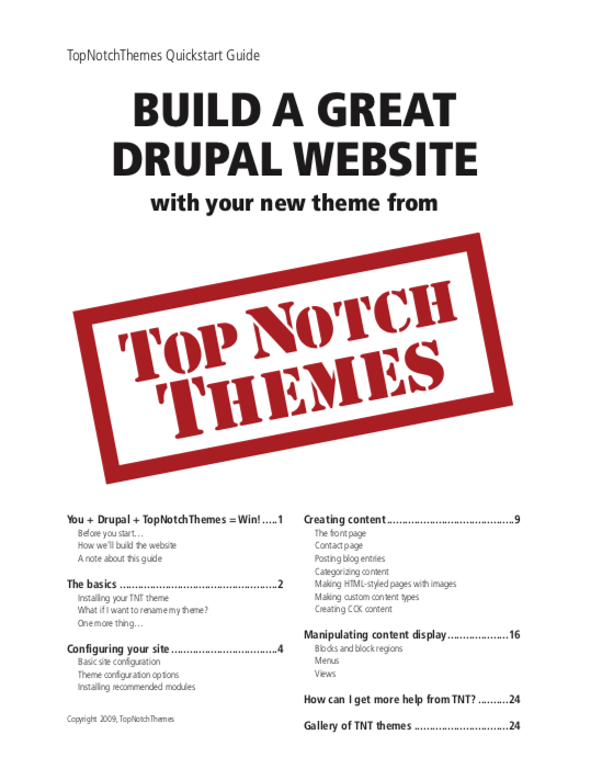 Title page of white paper for Top Notch Themes